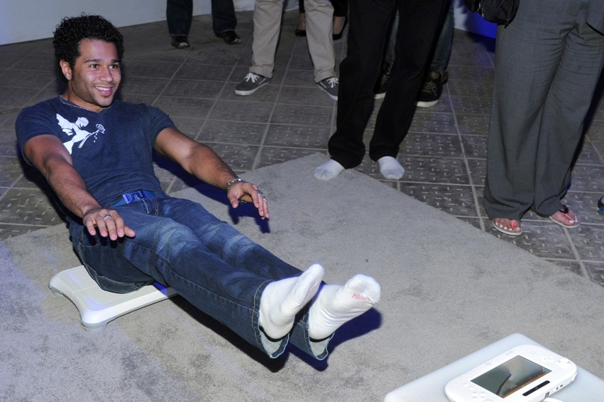 NEW YORK, NY - JUNE 27: (EXCLUSIVE COVERAGE)  Actor Corbin Bleu plays Wii Fit U at Nintendo Hosts Wii U Experience on June 27, 2012 in New York City.  (Photo by Jamie McCarthy/WireImage)