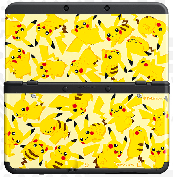 New Nintendo 3DS cover plates Pikachu-cover-plate