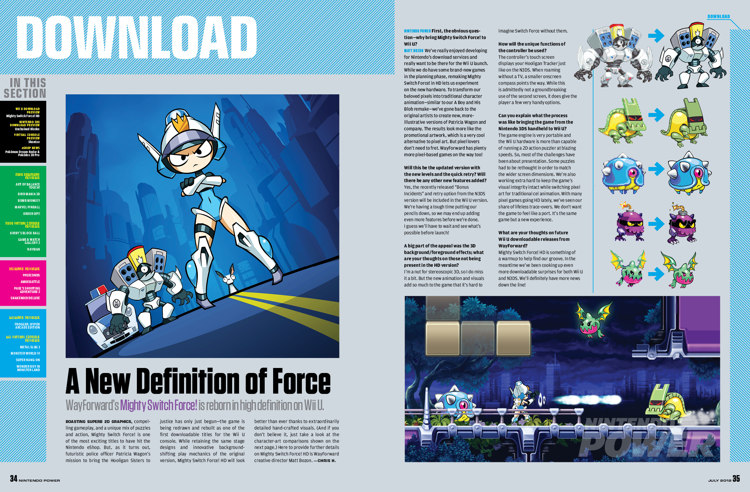 """""""Mighty Switch Force HD"""" sur l'eShop de la Wii U Np280_msfhd"""