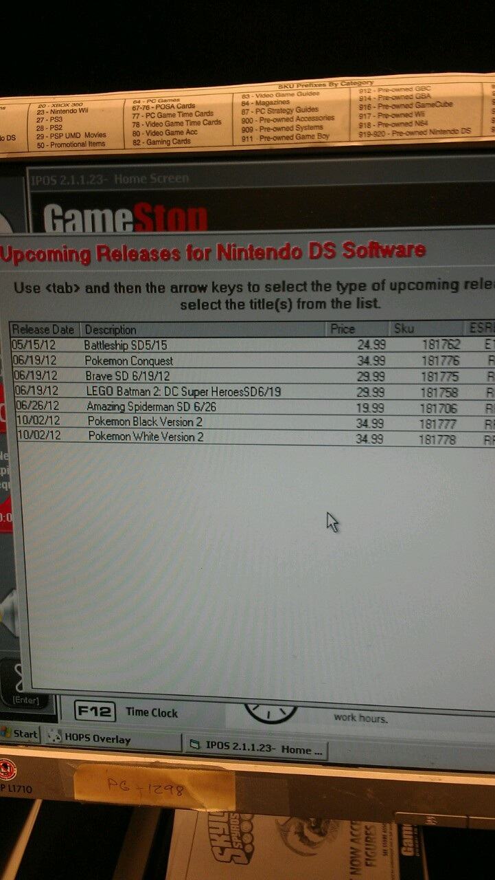 Possible Pokemon Black/White 2 release date from GameStop - Nintendo