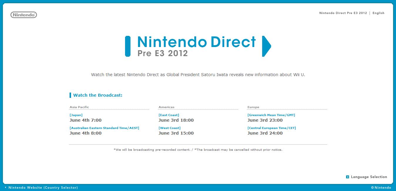 New Nintendo Direct tomorrow, Iwata revealing Wii U news - Nintendo ...