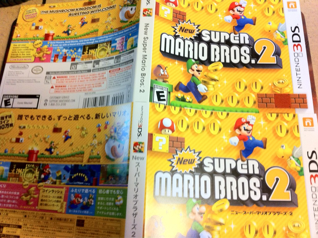 North American Japanese New Super Mario Bros 2 Cover Comparison Nintendo Everything