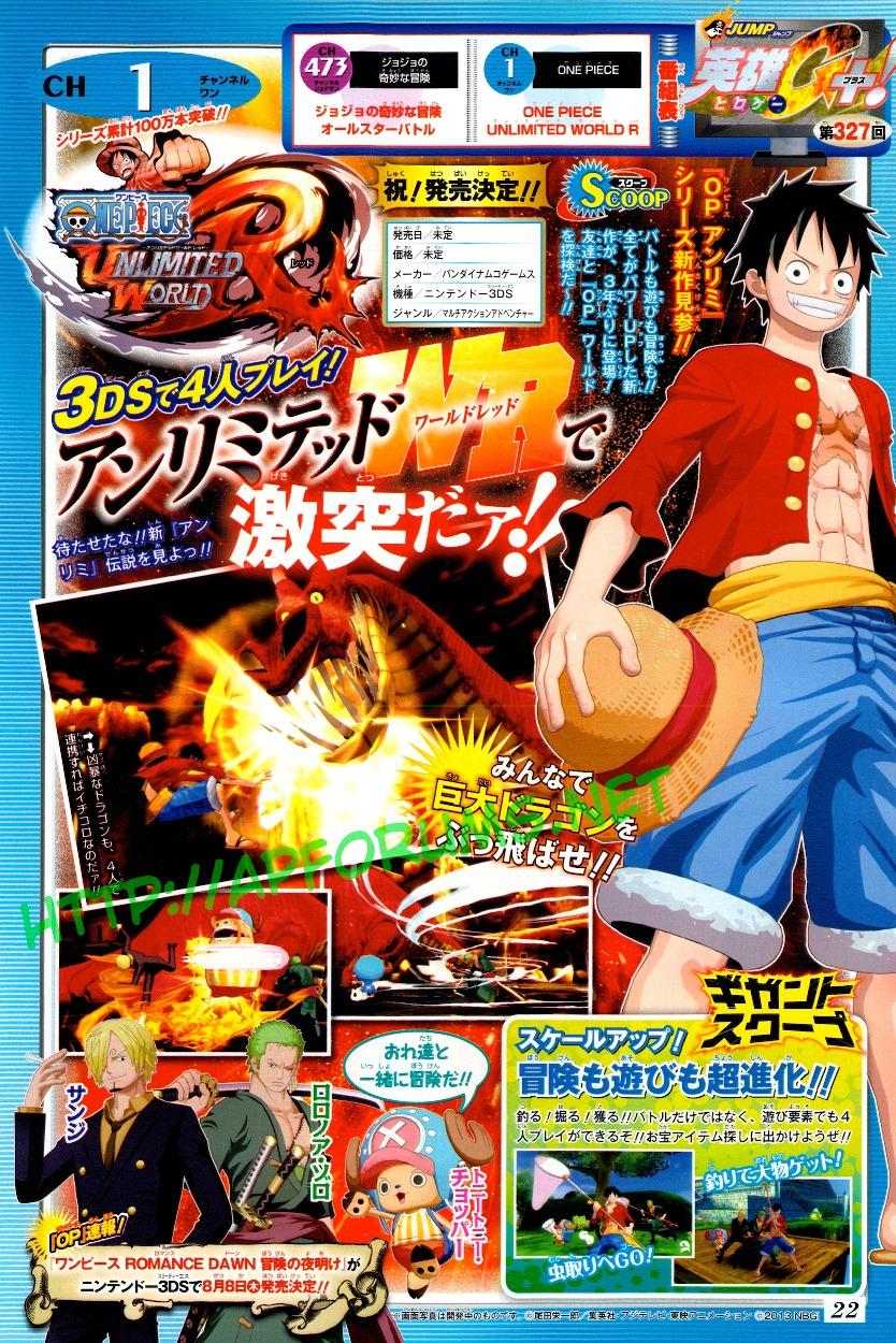 Анонс и дебютный трейлер One Piece: Unlimited World Red | мини игры Кооператив игры дата выхода анонс 3D