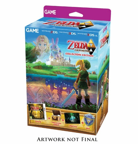 GAME selling Zelda  A Link Between Worlds Collector   s EditionA Link Between Worlds Poster