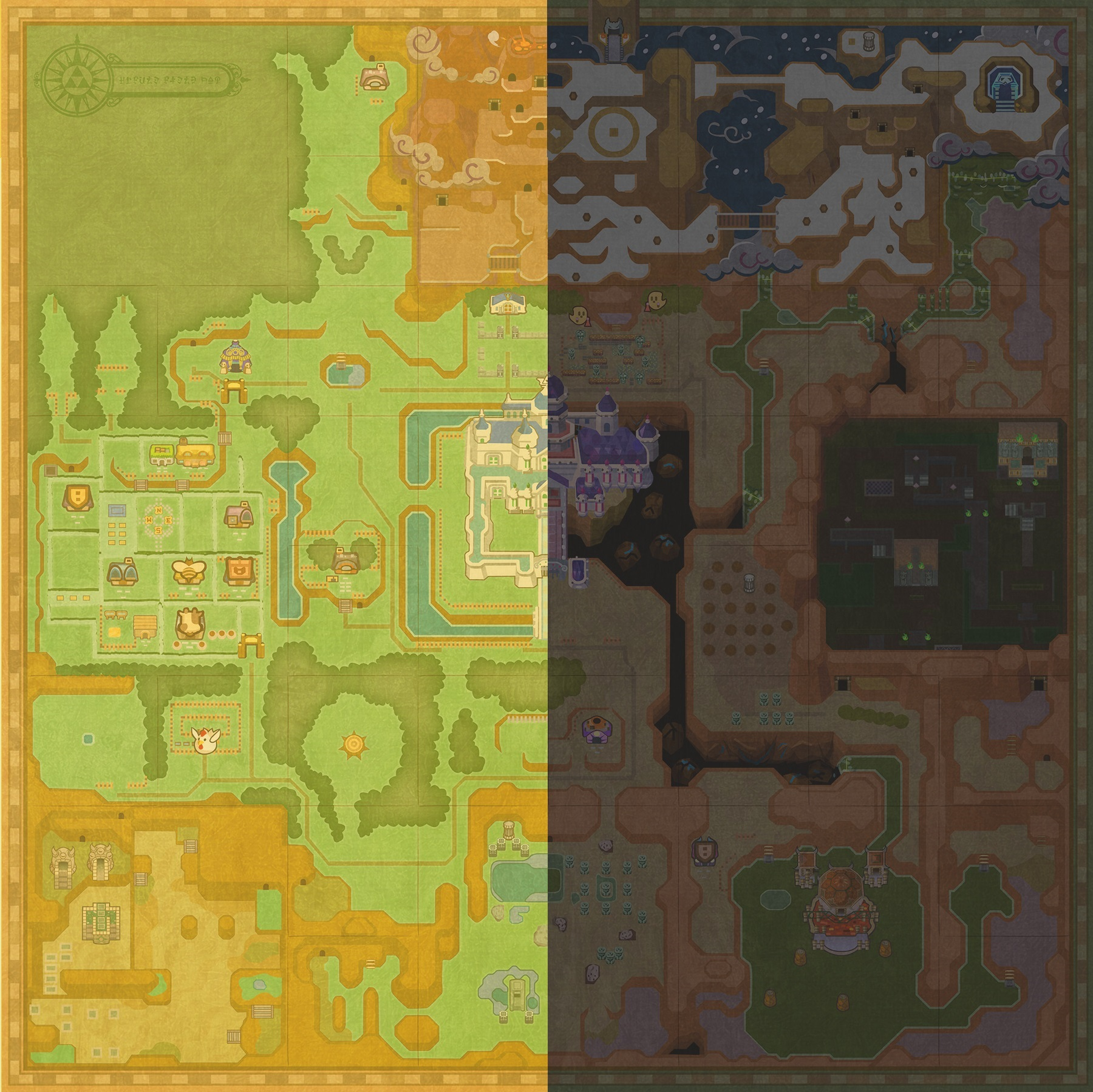 Zelda: A Link Between Worlds - a look at the overworld map ...