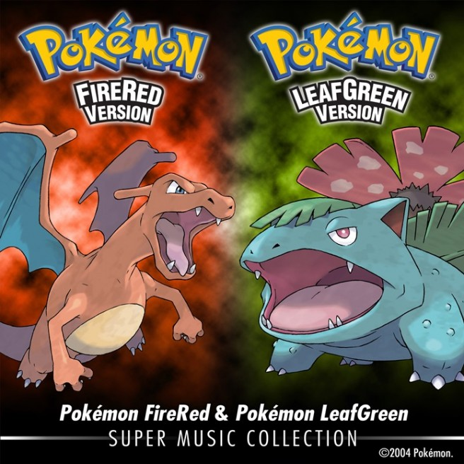 Pokémon FireRed and Pokémon LeafGreen Soundtrack Album Cover_2400px