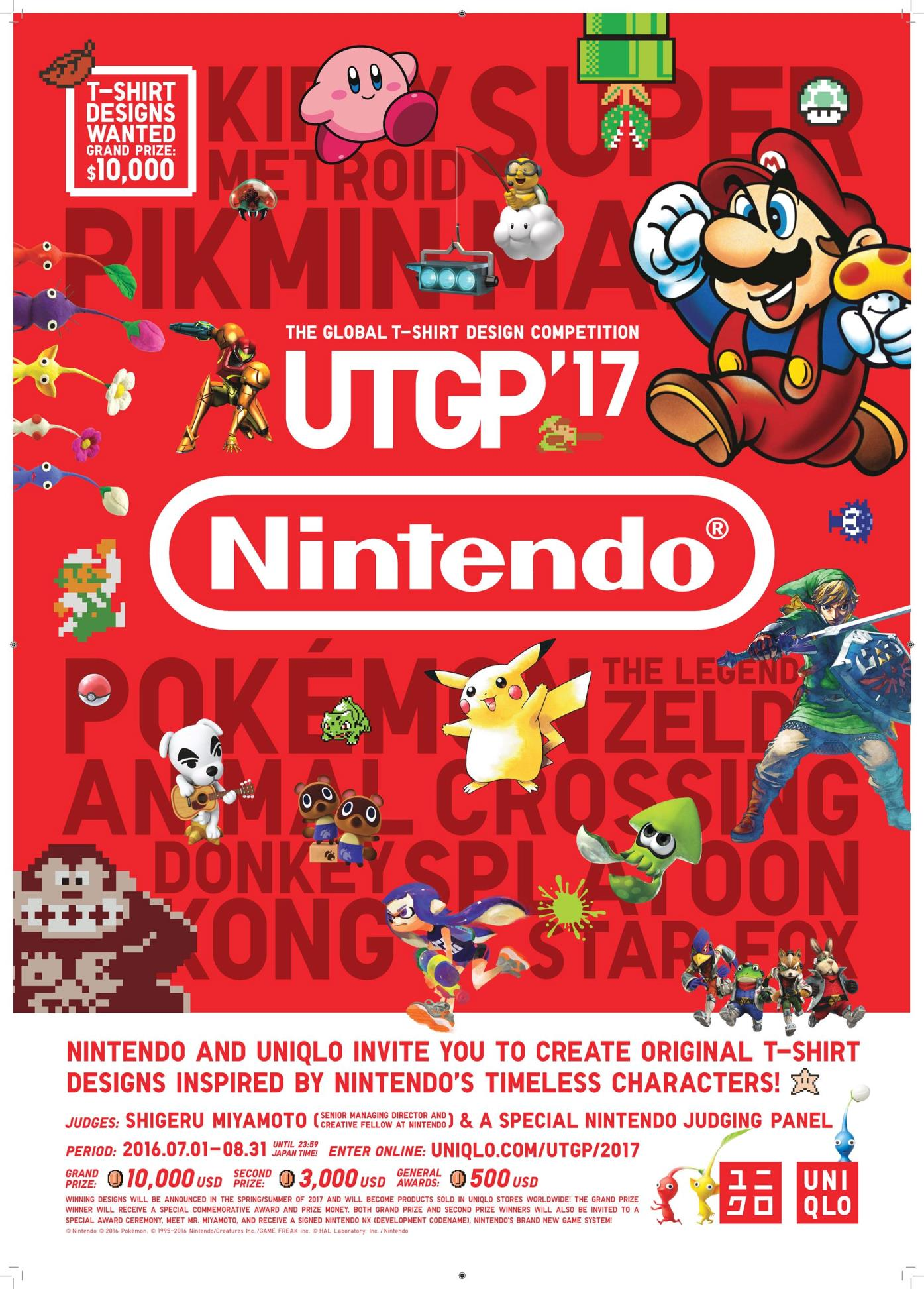 Poster design contest 2016 - In Partnership With Nintendo Uniqlo Has Launched Its Uniqlo T Shirt Ut Grand Prix 2017 Design Contest Anyone Around The World Can Enter Until August 31
