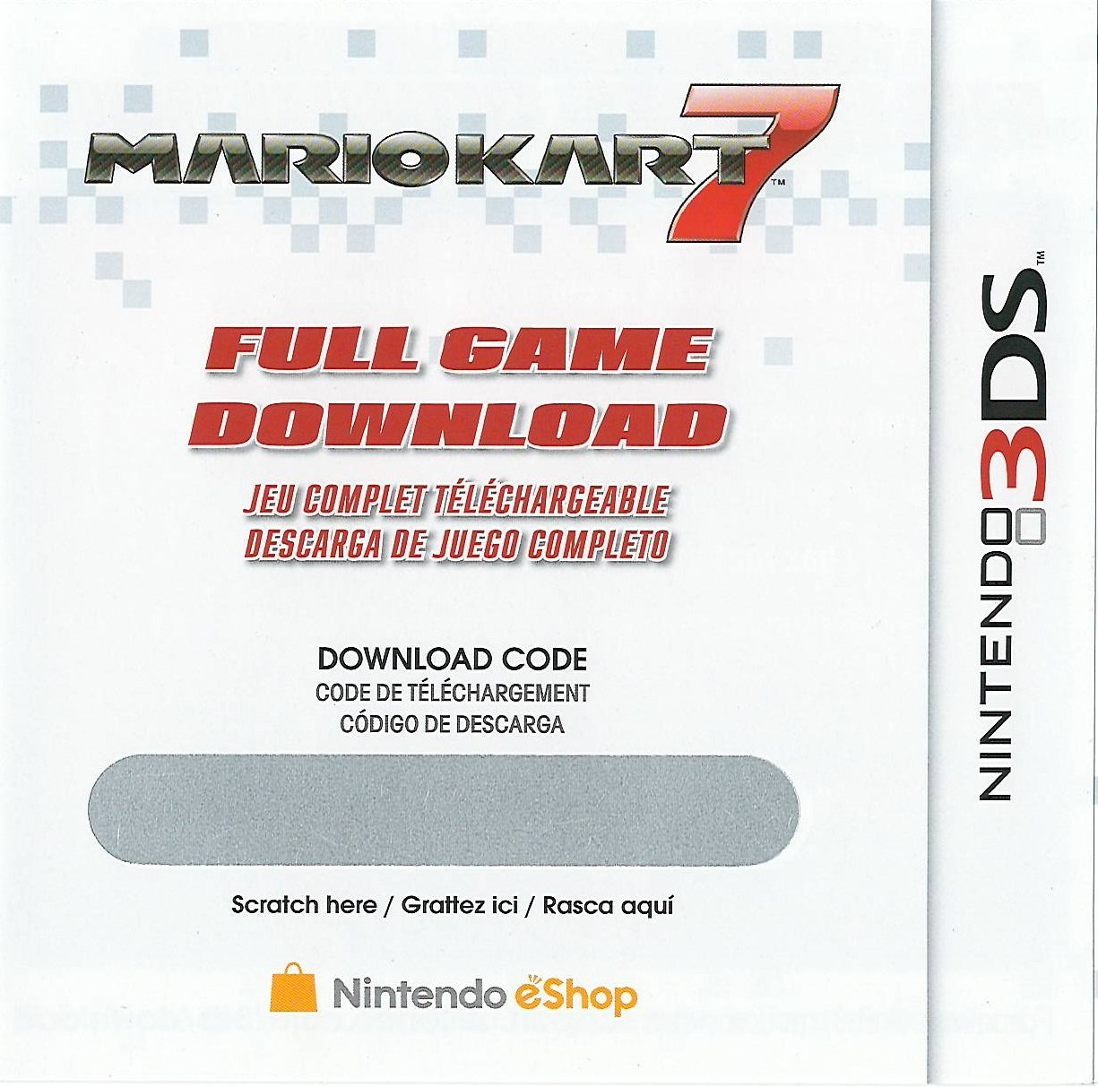 How to redeem your download code for nintendo wii u - Amazon Is Selling Mario Kart 7 Download Codes For Just 16 50 Cards Should Be Shipped Via Regular Mail And You Ll Then Need To Redeem The Code Included On