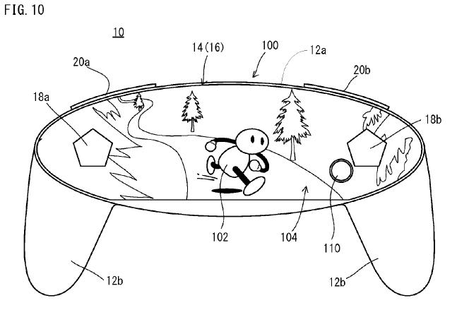 Patente para novo console da Nintendo Nintendo-patent-controller-display