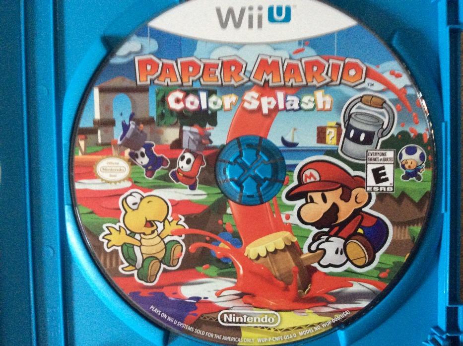 Paper Mario: Color Splash disc art - Nintendo Everything