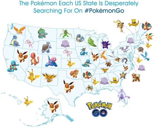 Pokemon Go A Look At The Most Sought After Pokemon In The United
