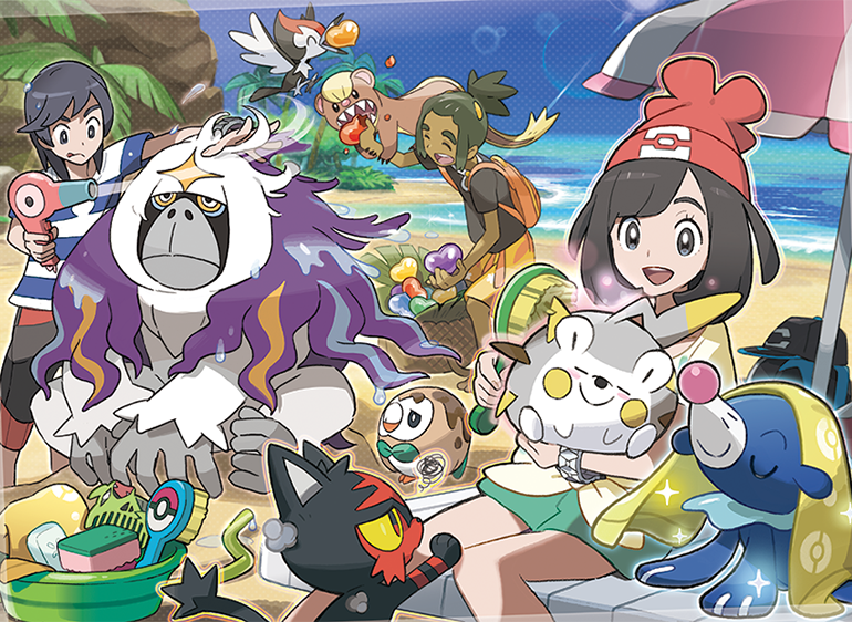 Super Pokemon Sun Moon New Images And Details Cover Latest Pokemon And Short Hairstyles Gunalazisus