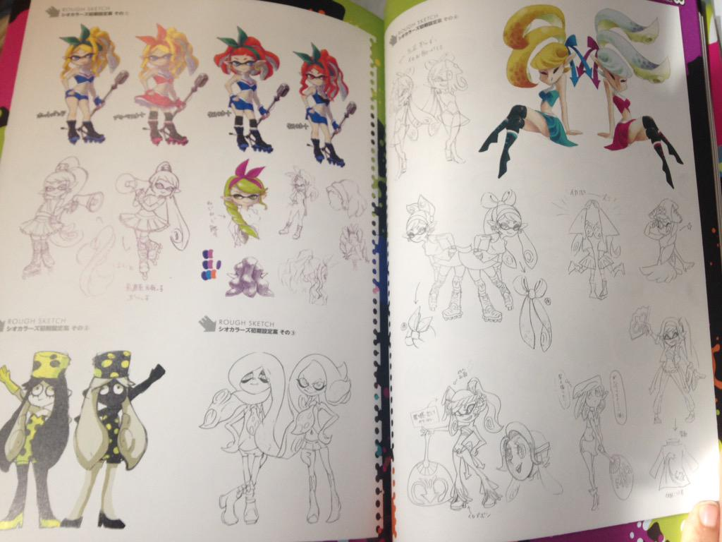 More images from the Splatoon artbook  Nintendo Everything - Anime Hairstyles Female