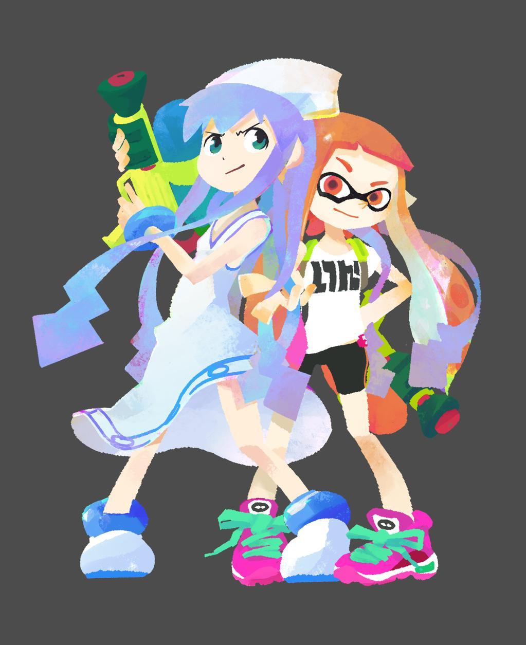 Splatoon Squid Girl Costume : カレンダー 2015 イラストレーター : イラスト