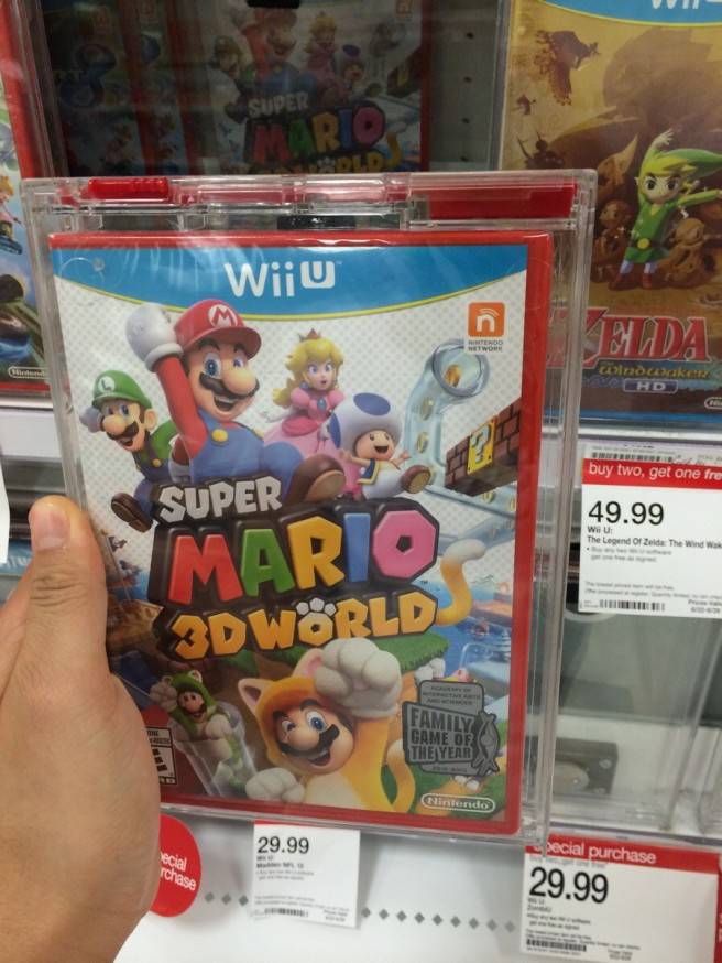 Super Mario 3D World in a red case