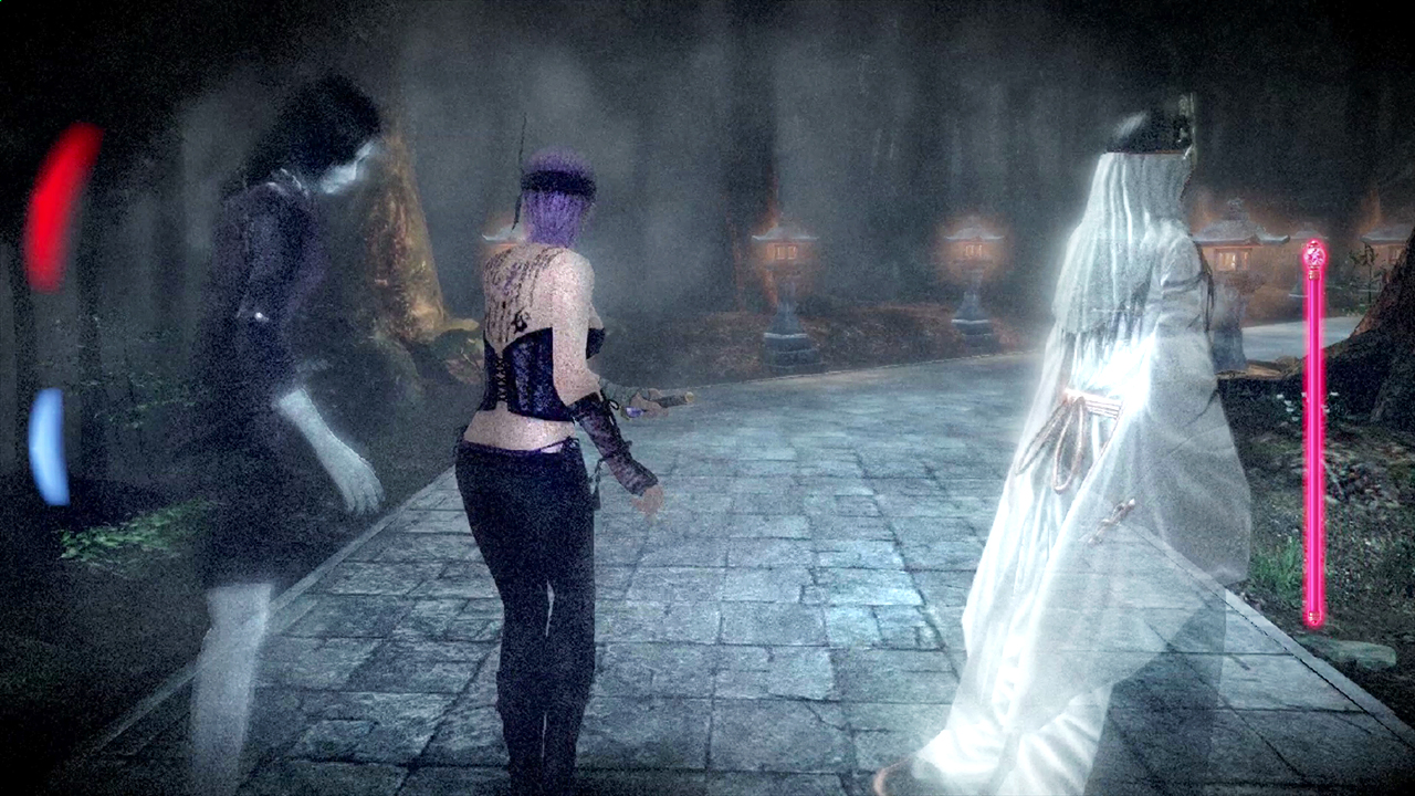 Fatal Frame: The Black Haired Shrine Maiden screenshots show Ayane ...
