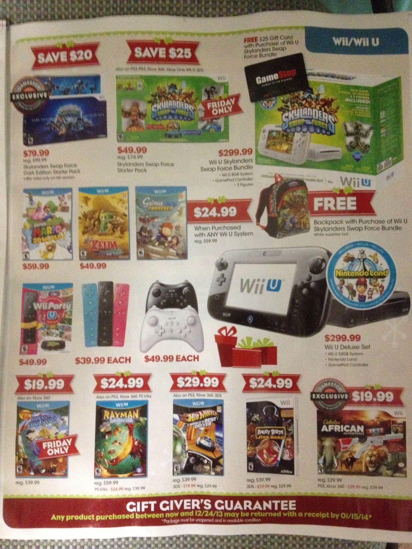 Gamestop S Leaked Black Friday 2013 Deals Full Flyer Nintendo Everything