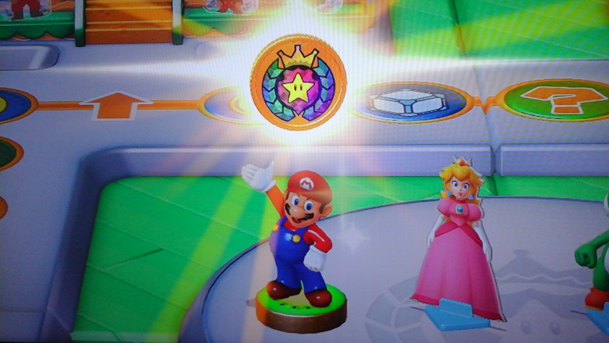 There is a special perk for using the gold Mario amiibo in Mario