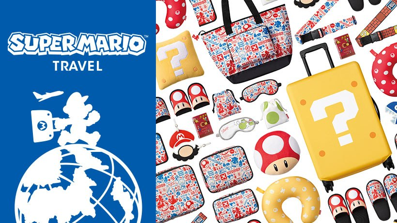 Starting Today Nintendo Is Making A Whole Bunch Of Travel Merchandise Available In An The Company Has Prepared Super Mario Themed Pillows Slippers