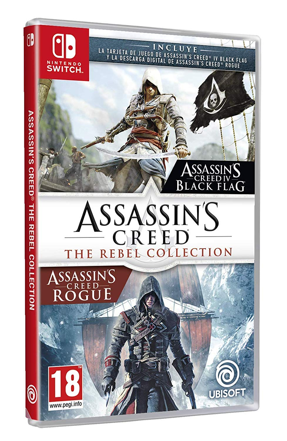 spanish assassin s creed the rebel collection boxart suggests assassin s creed rogue is a download code nintendo everything the rebel collection boxart suggests