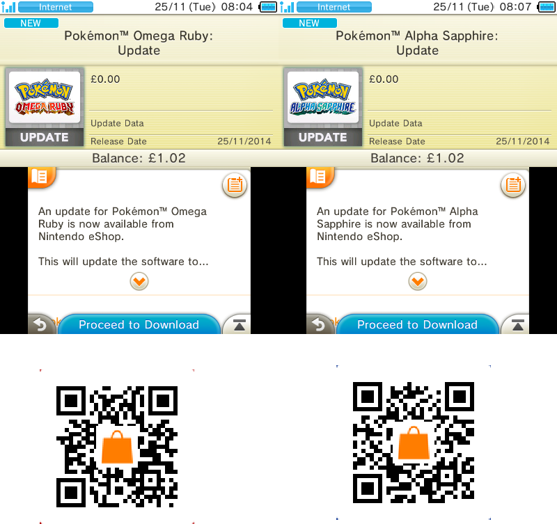 Pokemon Omega Ruby/Alpha Sapphire 1 1 update now available