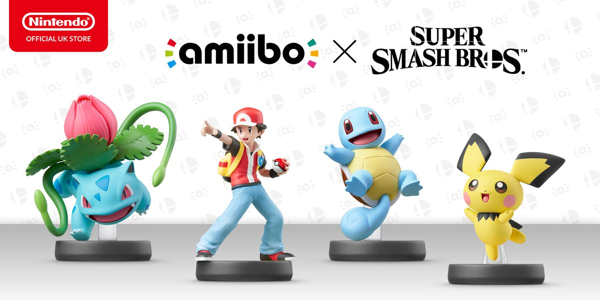 Pichu, Pokemon Trainer, Squirtle, and Ivysaur amiibo up for pre-order on the Nintendo UK store