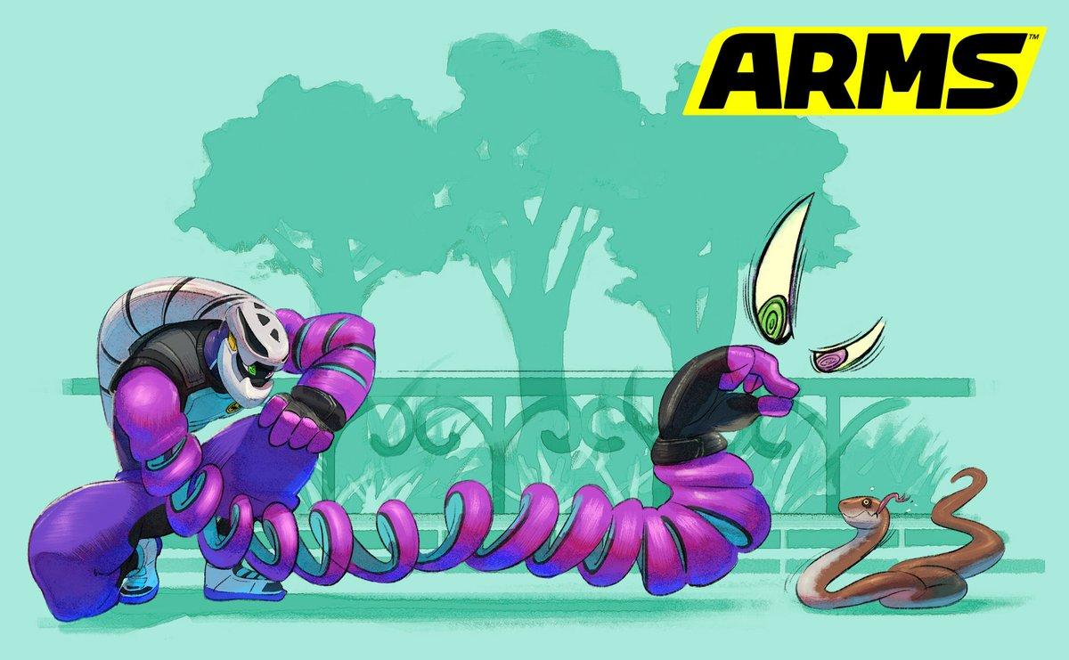 ARMS - Kid Cobra and lore art - Nintendo Everything