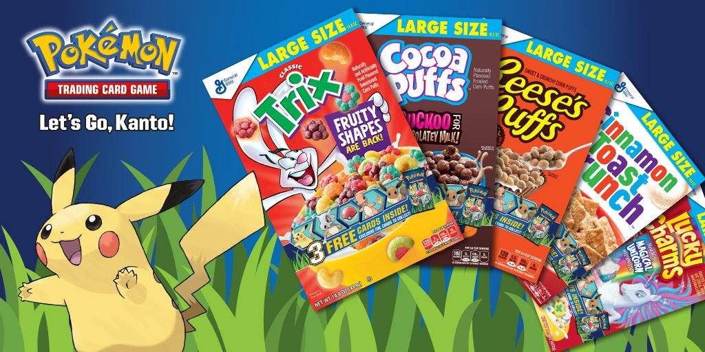 Pokemon TCG cards to be included in select boxes of Big G Cereals