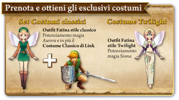 Italian Hyrule Warriors Legends Pre Orders Come With Exclusive Costumes Nintendo Everything