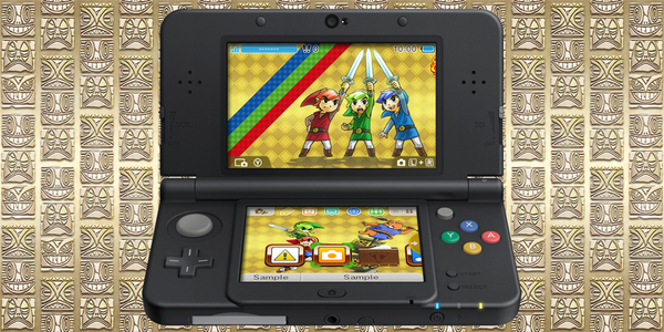 Free 3DS theme for Zelda: Tri Force Heroes eShop download