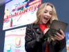 In this photo released by Nintendo of America, actor Sabrina Carpenter, currently starring in the Disney Channel sitcom Girl Meets World, sketches Olaf from Frozen in the Disney Art Academy video game for the Nintendo 3DS family of systems. Whether you're a strong artist or just a beginner, Disney Art Academy can help you create masterpieces of some of your favorite Disney and Pixar characters, which you can then upload and share via Facebook, Twitter and Miiverse.