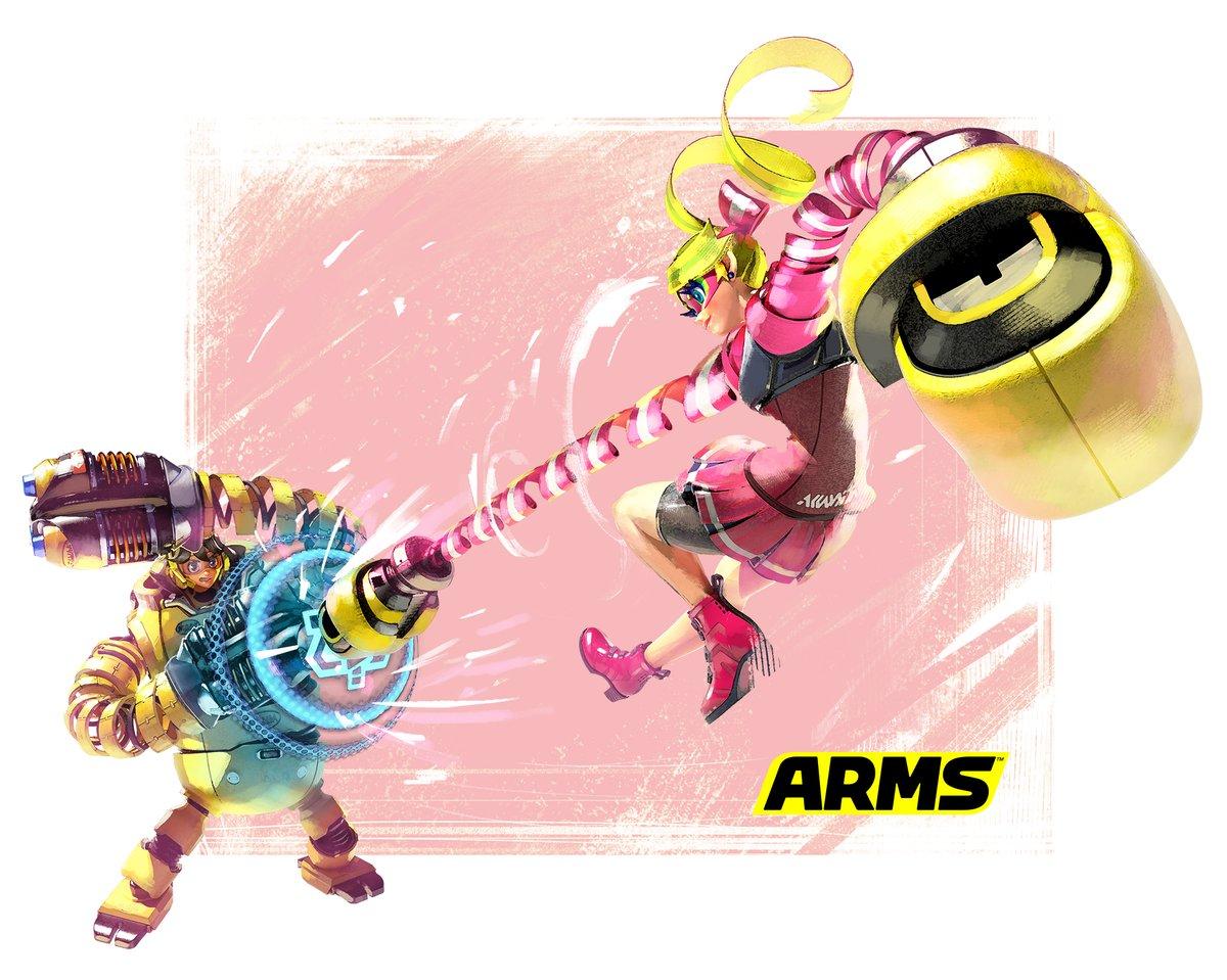 ARMS Mechanica Vs Ribbon Girl Artwork Nintendo Everything