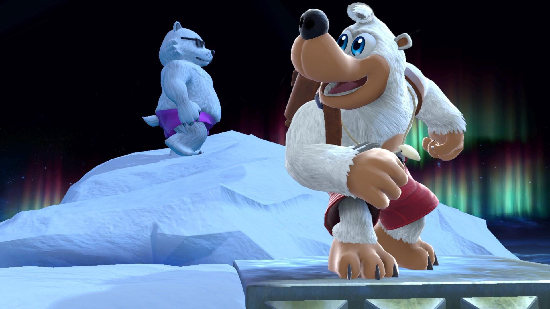 Super Smash Bros. Ultimate footage – Banjo-Kazooie, Sans Mii Fighter costume