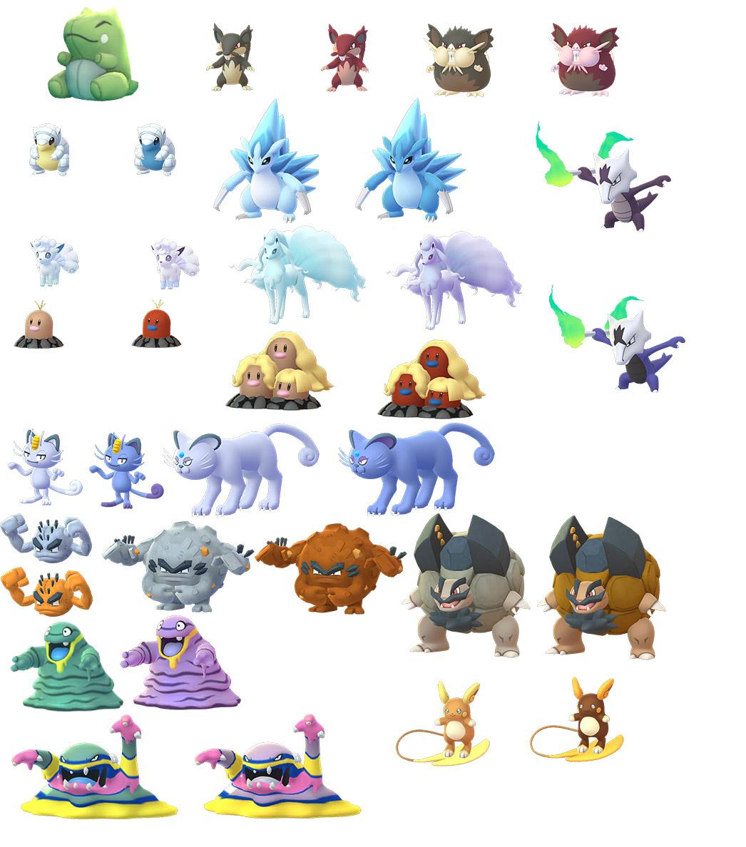 Pokemon Go Datamine Images For Alolan Forms Player