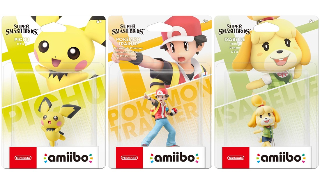 Pichu, Isabelle, and Pokemon Trainer amiibo up on GameStop