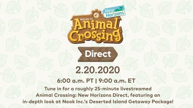 Animal Crossing New Horizons Direct 02.20.2020