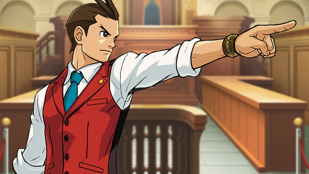 ace attorney official art waiter