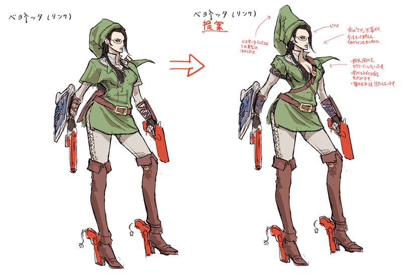 Good Character Design Portfolio : Bayonetta nintendo costumes concept art and details