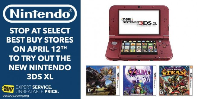 Best Buy holding New 3DS XL demo event on Sunday - Nintendo