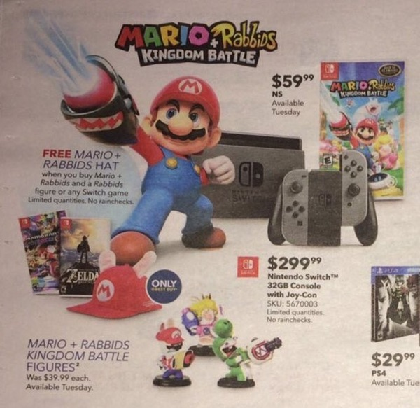 best buy offer for free mario rabbids hat nintendo everything