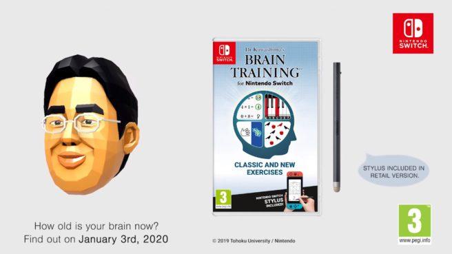 Dr Kawashima's Brain Training for Nintendo Switch coming to Europe