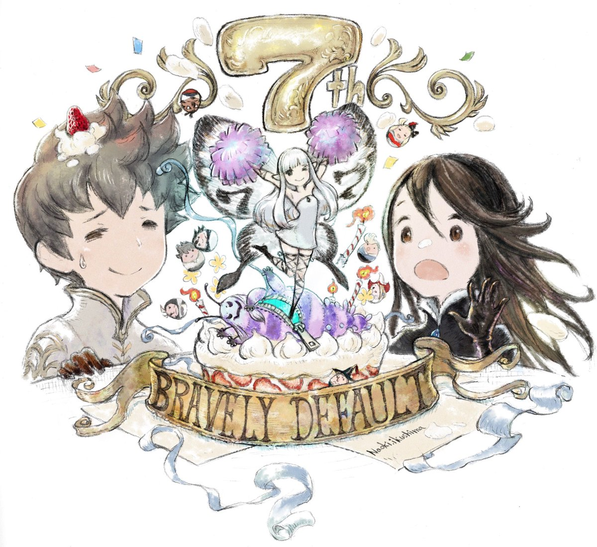 Square Enix shares special artwork for Bravely Default's 7th anniversary