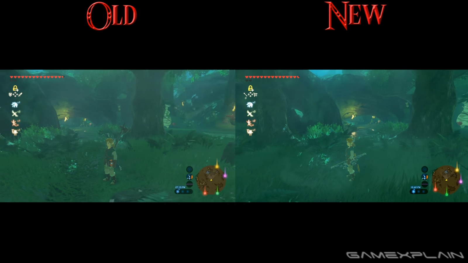 Video: Comparing Breath of the Wild\'s performance before and after ...