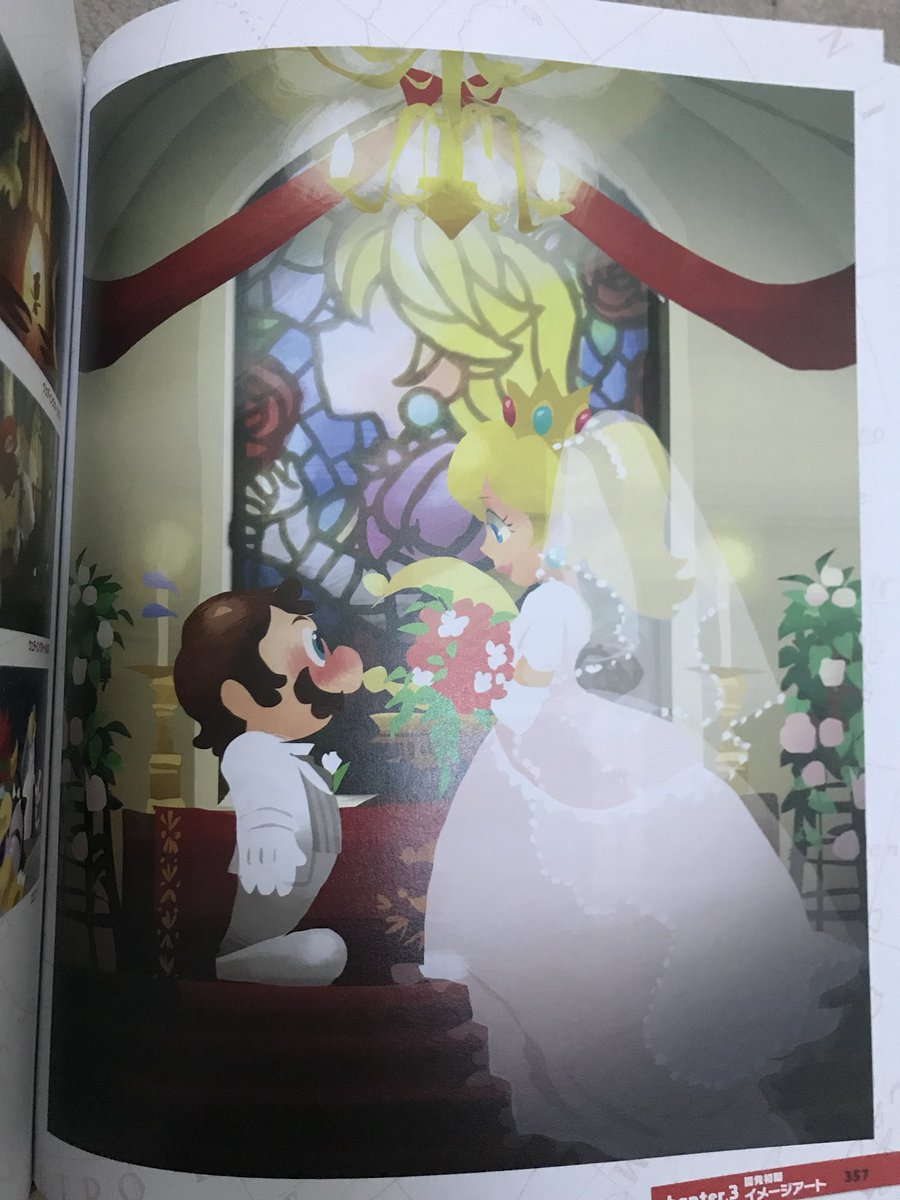 Super Mario Odyssey Concept Art Shows Mario And Peach Getting Married Nintendo Everything