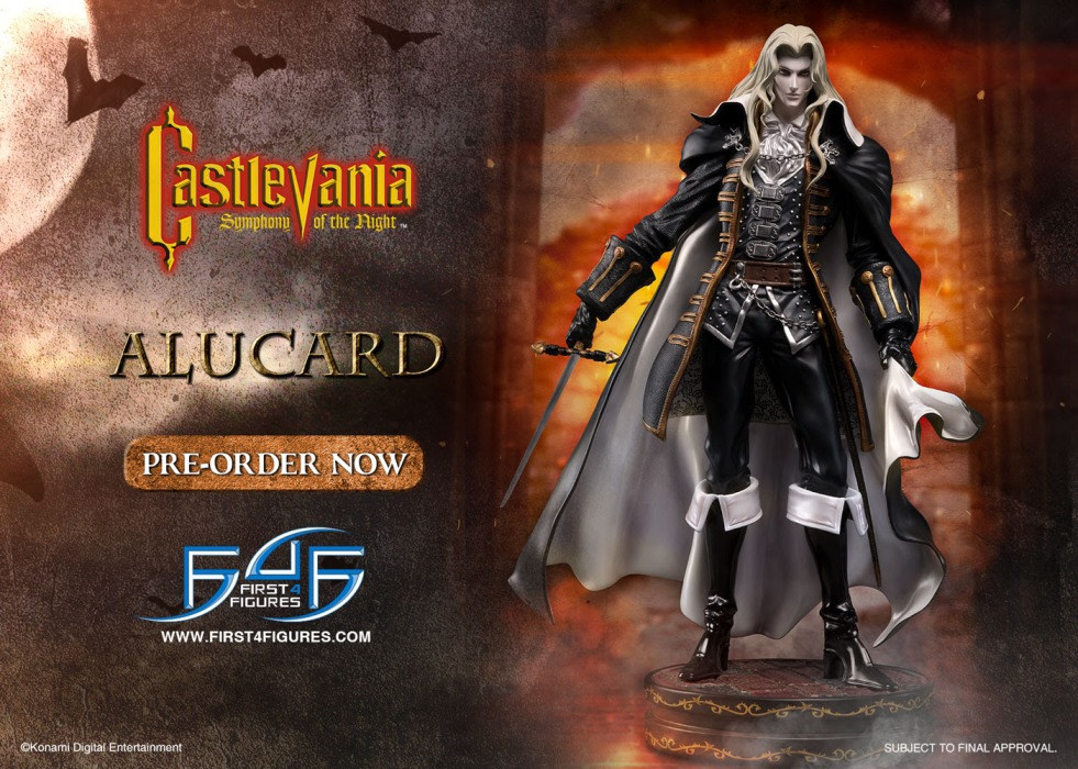 First 4 Figures making a statue of Castlevania's Alucard