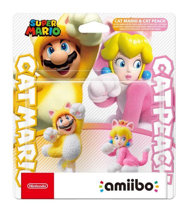 Cat Mario and Cat Peach amiibo