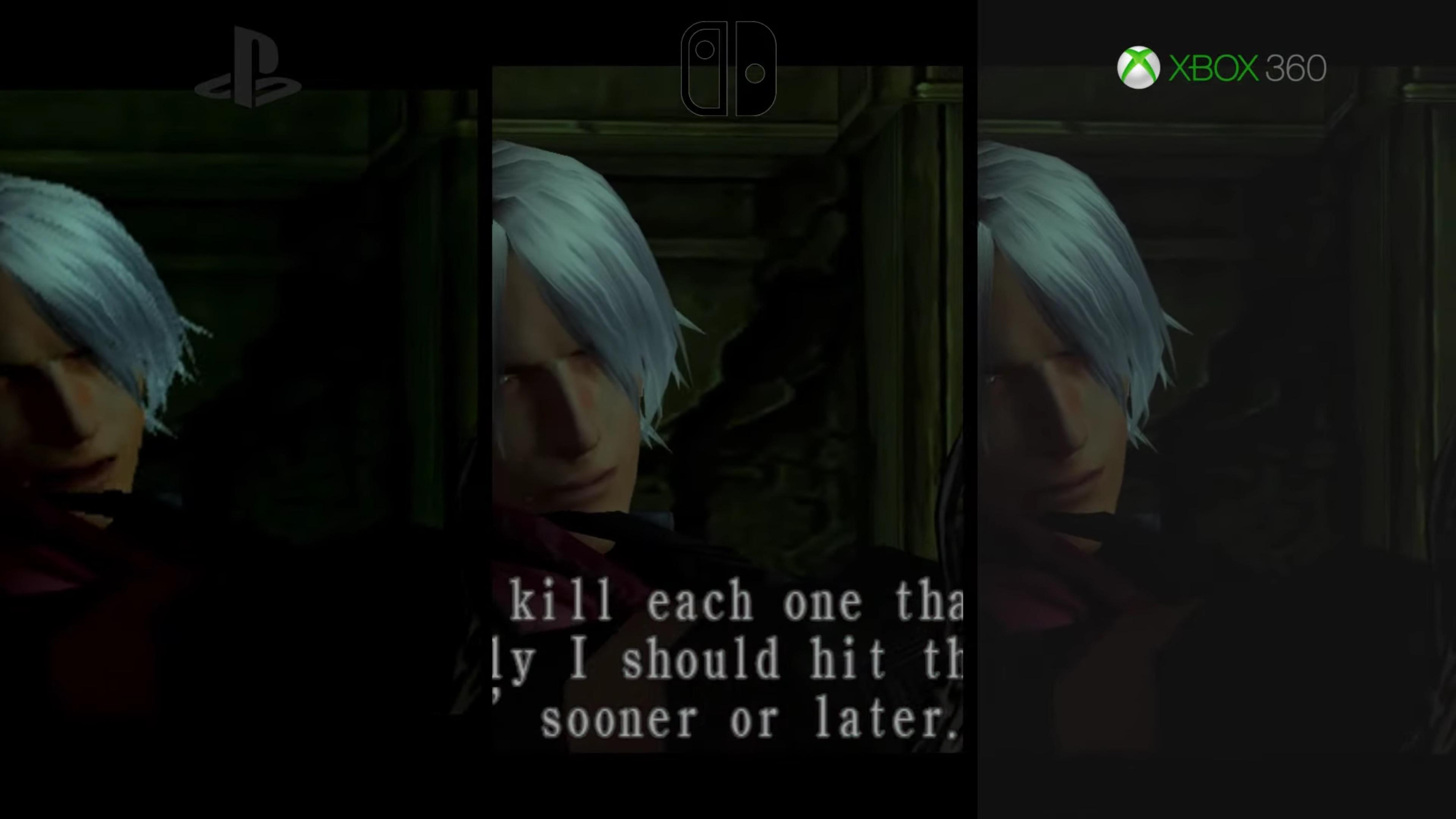 Devil May Cry Switch vs  Xbox 360 vs  PS2 graphics comparison