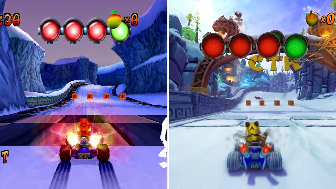 New Crash Team Racing Nitro-Fueled footage, PS1 comparison