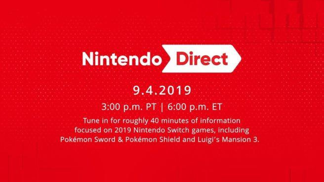 September 2019 Nintendo Direct recap announcement - Nintendo