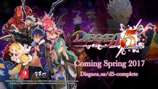 Off-screen Disgaea 5 Complete footage - Nintendo Everything